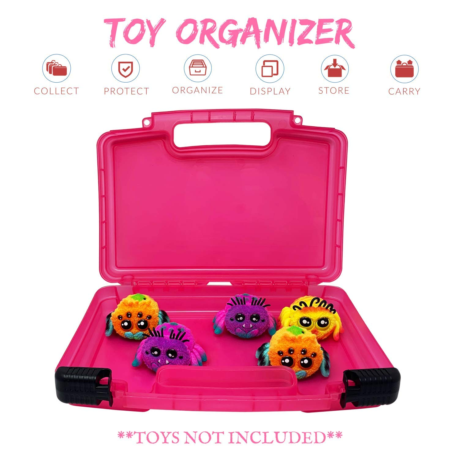 Compatible with Yellies Toy Spiders Life Made Better Toy Carrying Case Pink Toy Accessories Organizer Made by LMB