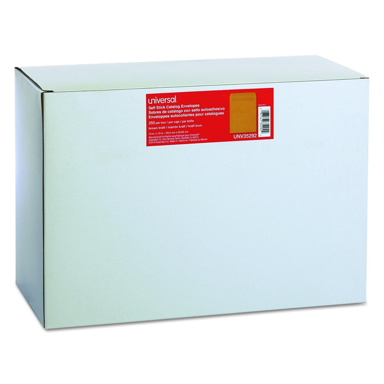10 x 13 Universal 42102 Self Seal Catalog Envelope Box of 100 White