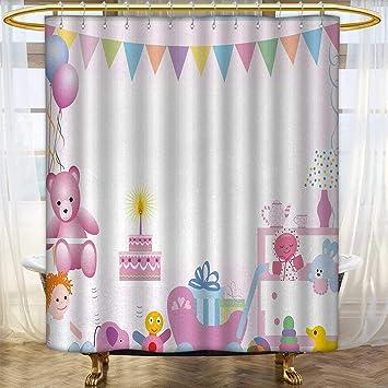 Amazon.com: Anhounine Cortina de ducha de cumpleaños para ...