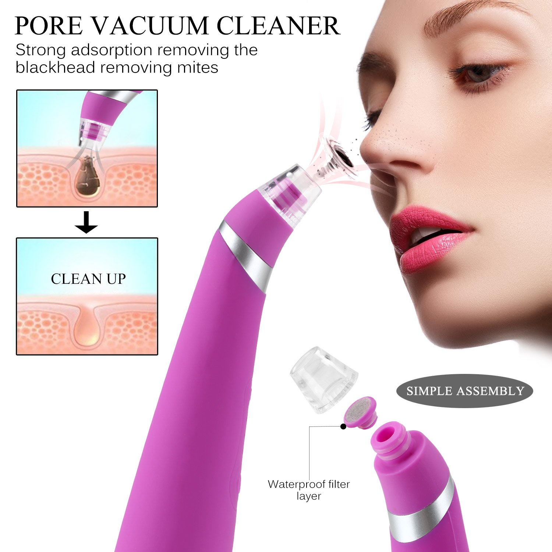 Limpiador Facial Profundo Vikeepro, Aspirador de puntos negros, Limpiador de Poros, Dermoabrasión Exfoliante, Facial Facial, Caja de Regalo para el Cuidado ...