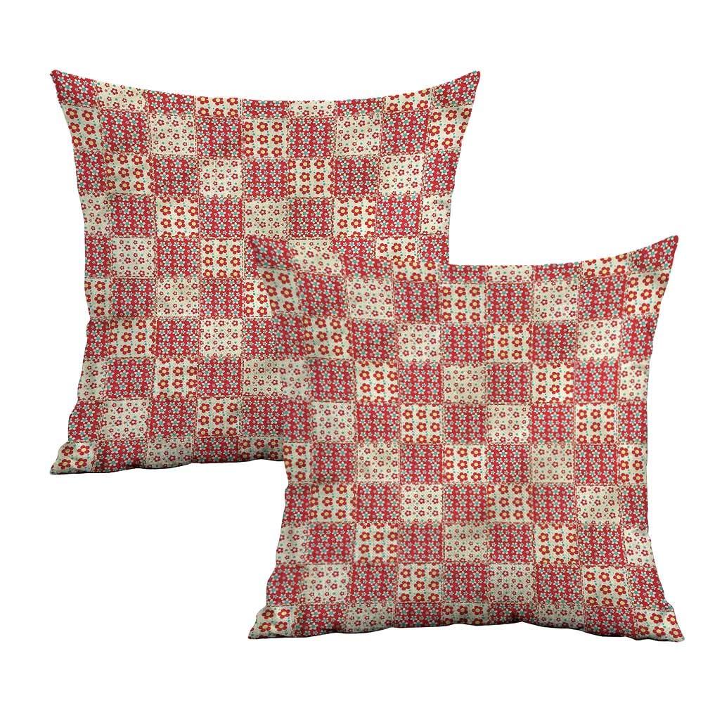 Amazon.com: Khaki home Patchwork Square Body Pillowcase ...