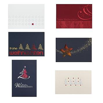 Einlegeblätter Für Weihnachtskarten.12 Weihnachtskarten 6 Design Motive á 2 Karten Inklusive Passende