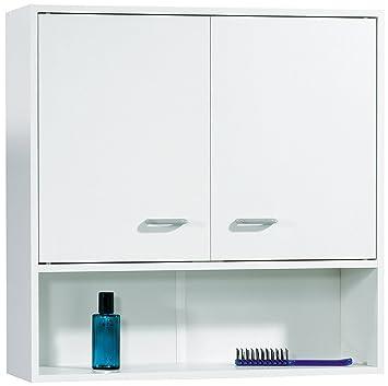 FACKELMANN Hängeschrank Standard/mit Kunststoffgriffen/Maße (B x H x T):  ca. 65 x 65 x 20 cm/Schrank fürs Bad/Möbel fürs WC oder Badezimmer/Korpus:  ...