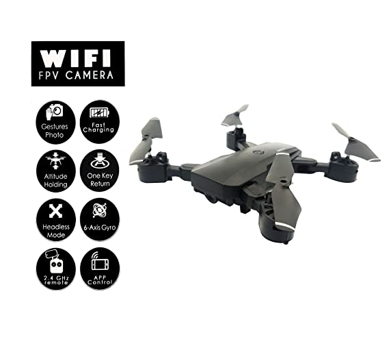 Syma X5Sw Wifi Real Time Fpv 2Mp Camera Drone Quadcopter Headless Mode 2.4Ghz 6 4 Channel With Display Remote Control Black