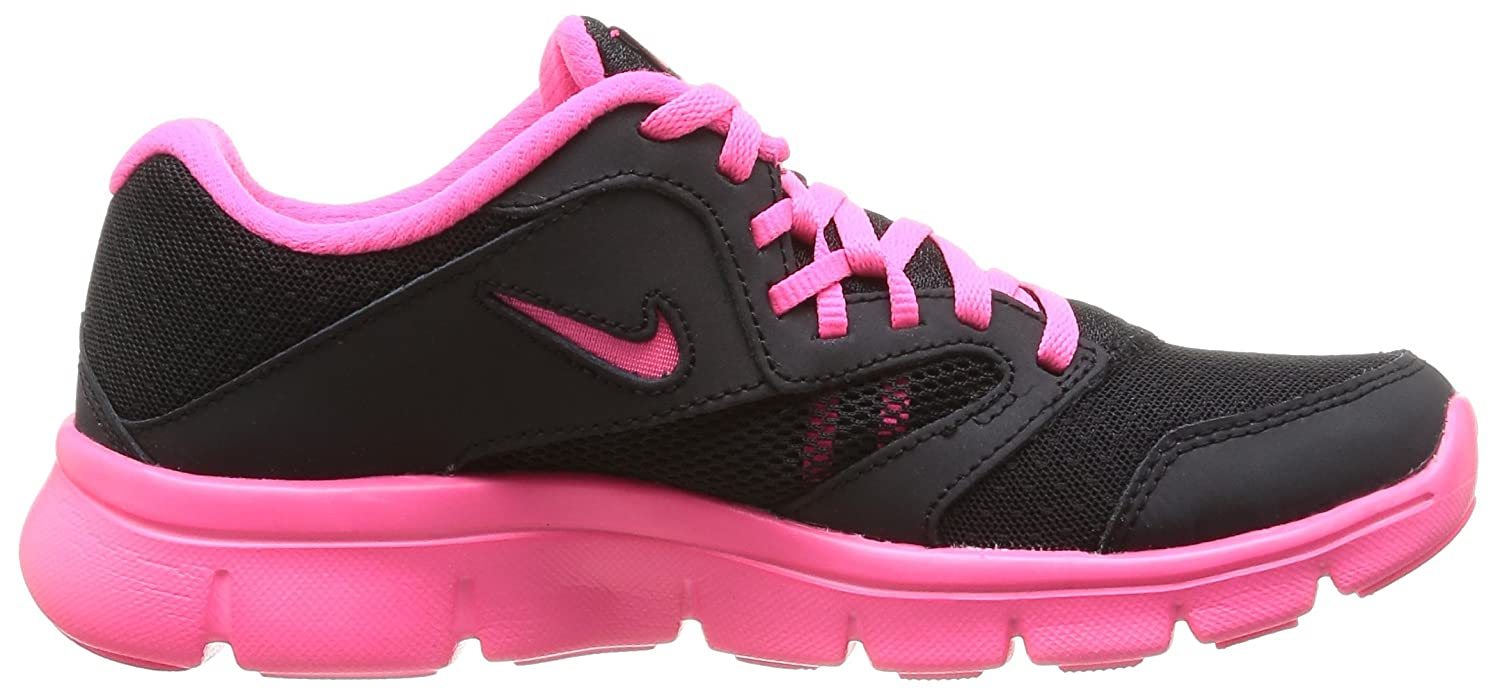 Nike Flex Experience 3 Run Girls Running Shoes 5 M US Big Kid, Black//Hyper Pink