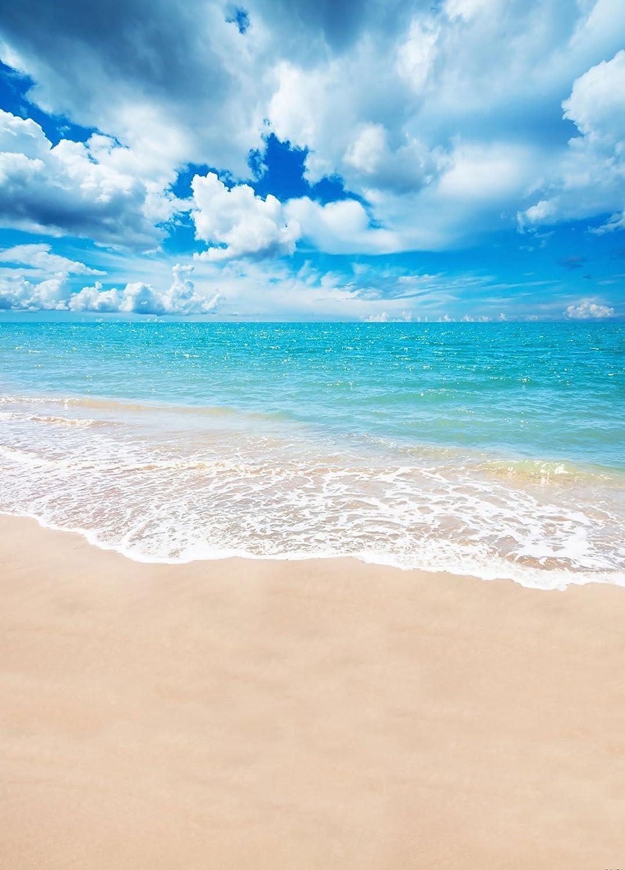 5x7ft Strand Meer Foto Hintergrund Sommer Hawaiian Kamera