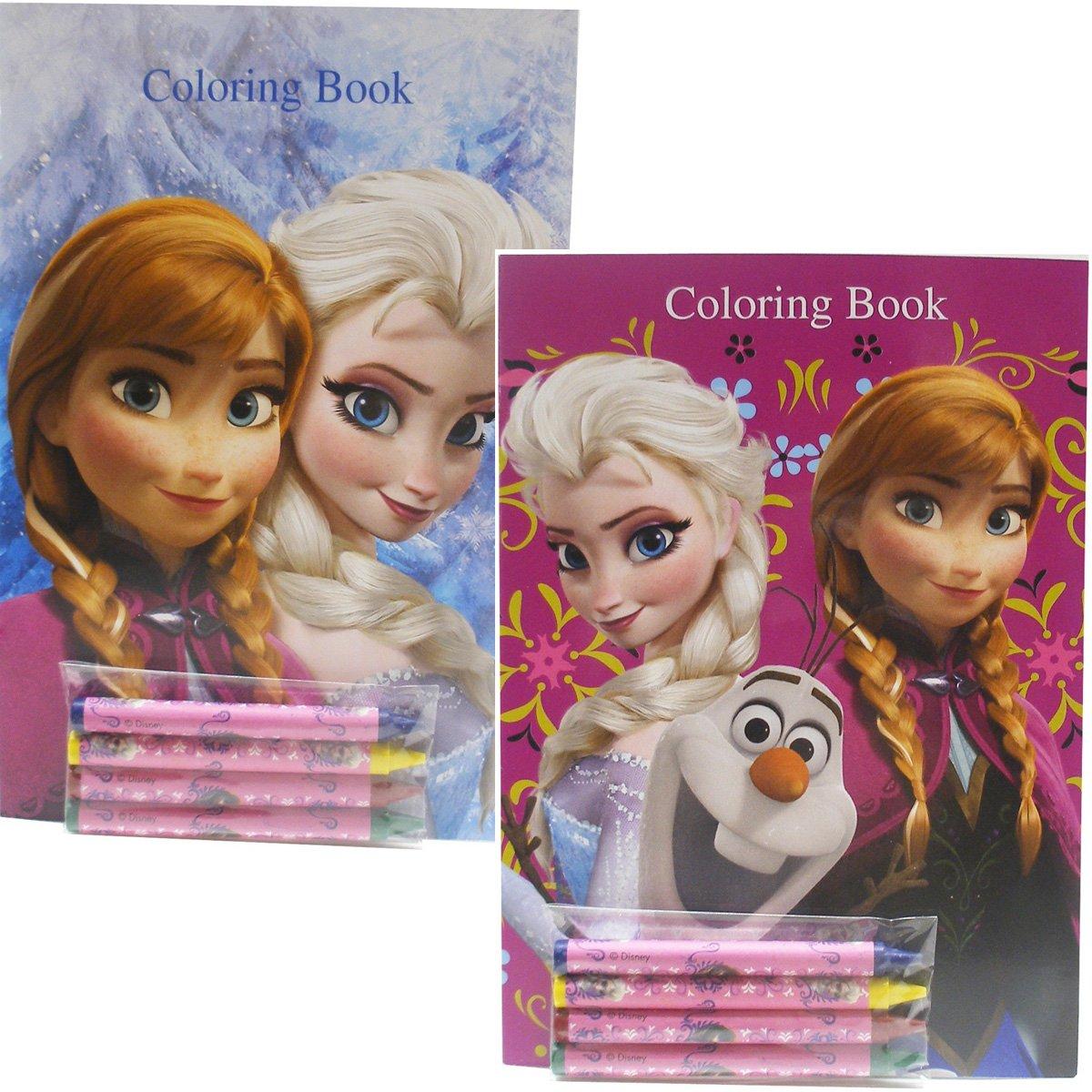 Amazon.com: Disney Frozen Coloring Books Elsa Anna and Olaf (2 Books ...