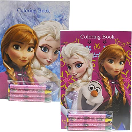 Disney Frozen Coloring Books Elsa Anna And Olaf 2