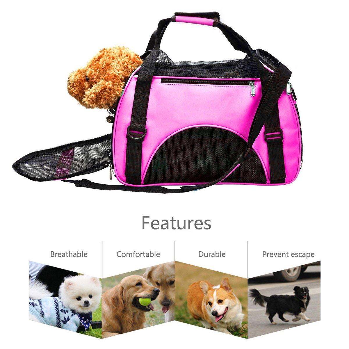 PETCUTE Trasportin Gatos Portador para Mascotas portátil Portador de Viaje Ligero para Perros Gatos Bolsa para Mascotas: Amazon.es: Hogar