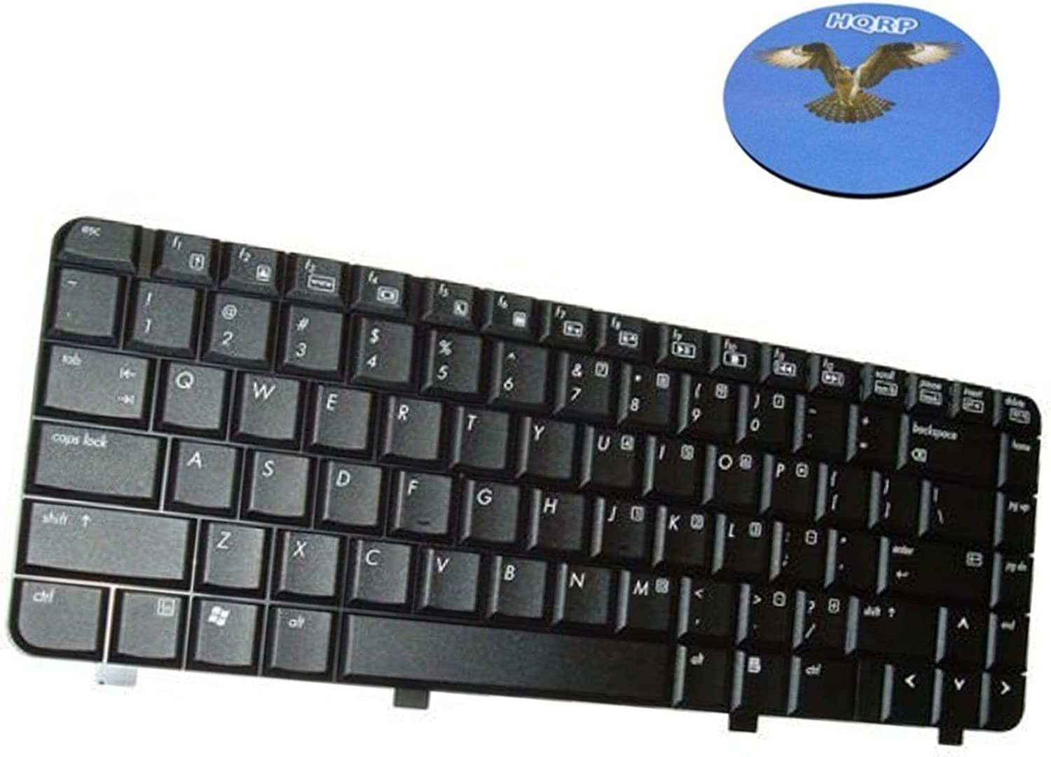 HQRP Laptop Keyboard for HP Compaq V3000 / DV2000 / DV2100 Notebook Replacement plus HQRP Coaster