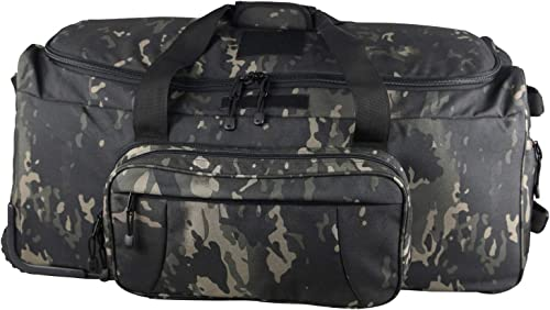 GreenCity Military Wheeled Deployment Heavy-Duty Trolley Bag Water Resistant Tactical Duffel Bag
