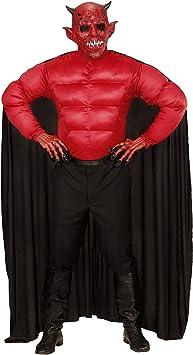 WIDMANN Disfraz Diablo Adulto, Camiseta de Tirantes con Capa ...