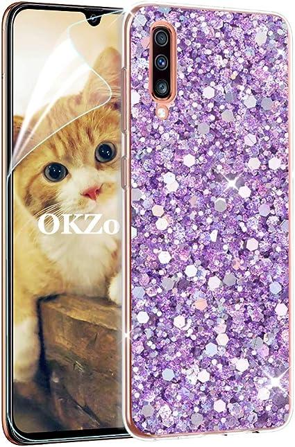OKZone Funda Samsung Galaxy A70 Carcasa Purpurina [con Protector ...