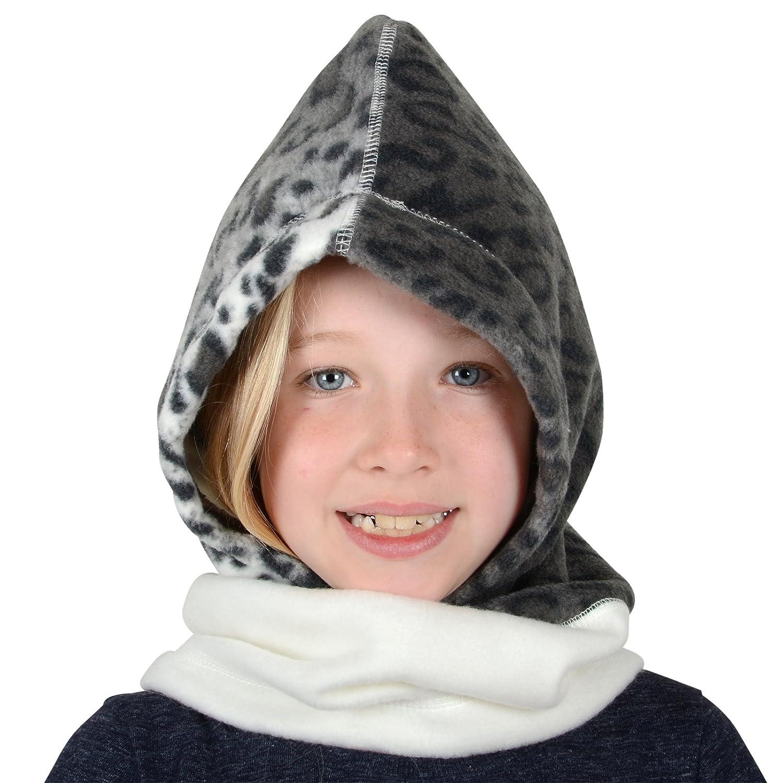 XSS Childrens Polar Fleece Hood Snood Balaclava Neck Winter Warmer Hat Scarf Mask