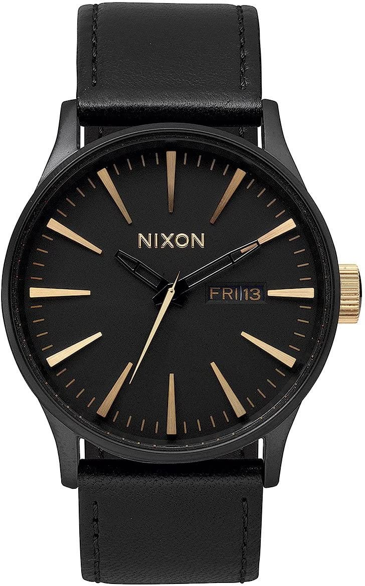 TALLA Talla única. NIXON Sentry Leather -Spring 2017- Matte Black/Gold