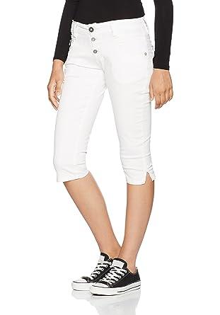 Timezone Damen Slim Kairina 3/4 Shorts, Weiß (Pure 0100), W24