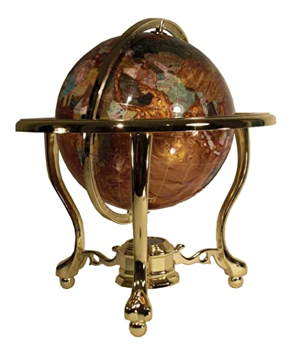 Gemstone World Map.Amazon Com 14 Tall Amber Pearl Gold Stand Gem Gemstone World Map