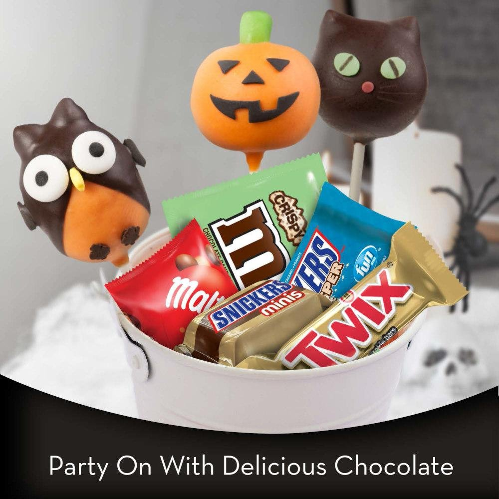 MARS Chocolate Crispy & Crunchy Lovers Minis and Fun Size Halloween Candy Bars 70.08-Ounce, 175-Piece Bag by Mars (Image #2)