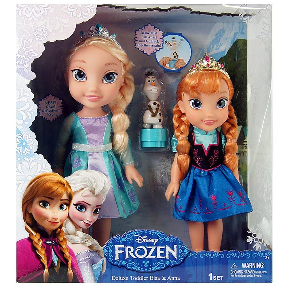 Jakks PacificDisney Frozen Deluxe Toddler Elsa And Anna Dolls Amazoncouk Toys Games