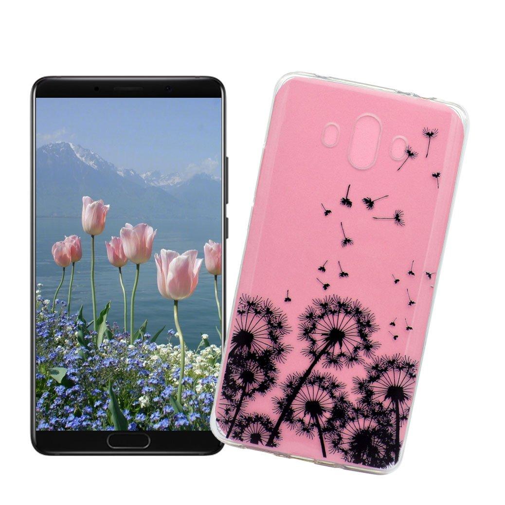 6e606cb6e Skull Rose Fundas transparentes para negativos y positivos Funda Huawei  Mate 10 AllDo Carcasa Transparente Funda ...