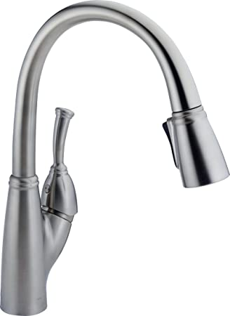 Delta Faucet 989-AR-DST Allora Single Handle Pull-Down Kitchen ...