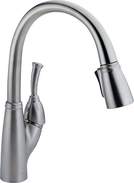 Delta 989-AR-DST Allora Single-Handle Pull-Down Kitchen Faucet with ...