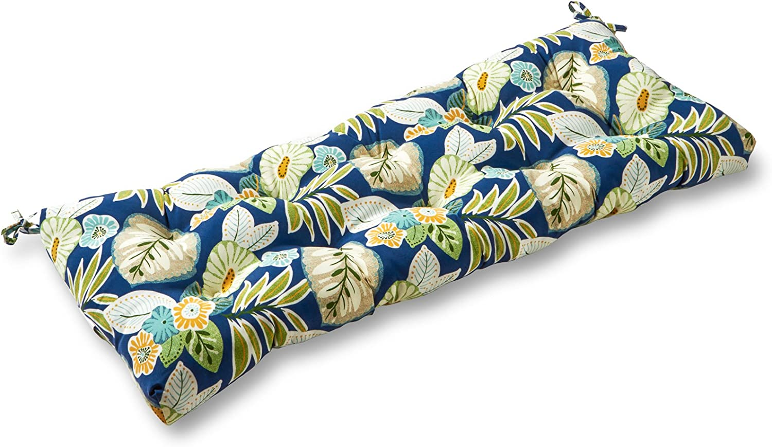 Greendale Home Fashions AZ4805-MARLOW Magnolia Floral 44-inch Outdoor Swing/Bench Cushion