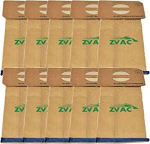 ZVac Replacement Electrolux U Style Vacuum Bags Compatible with Electrolux Part # 138Fp, 138 Fits Electrolux and Aerus Upright Vacuums - 10 Pack in A Bag