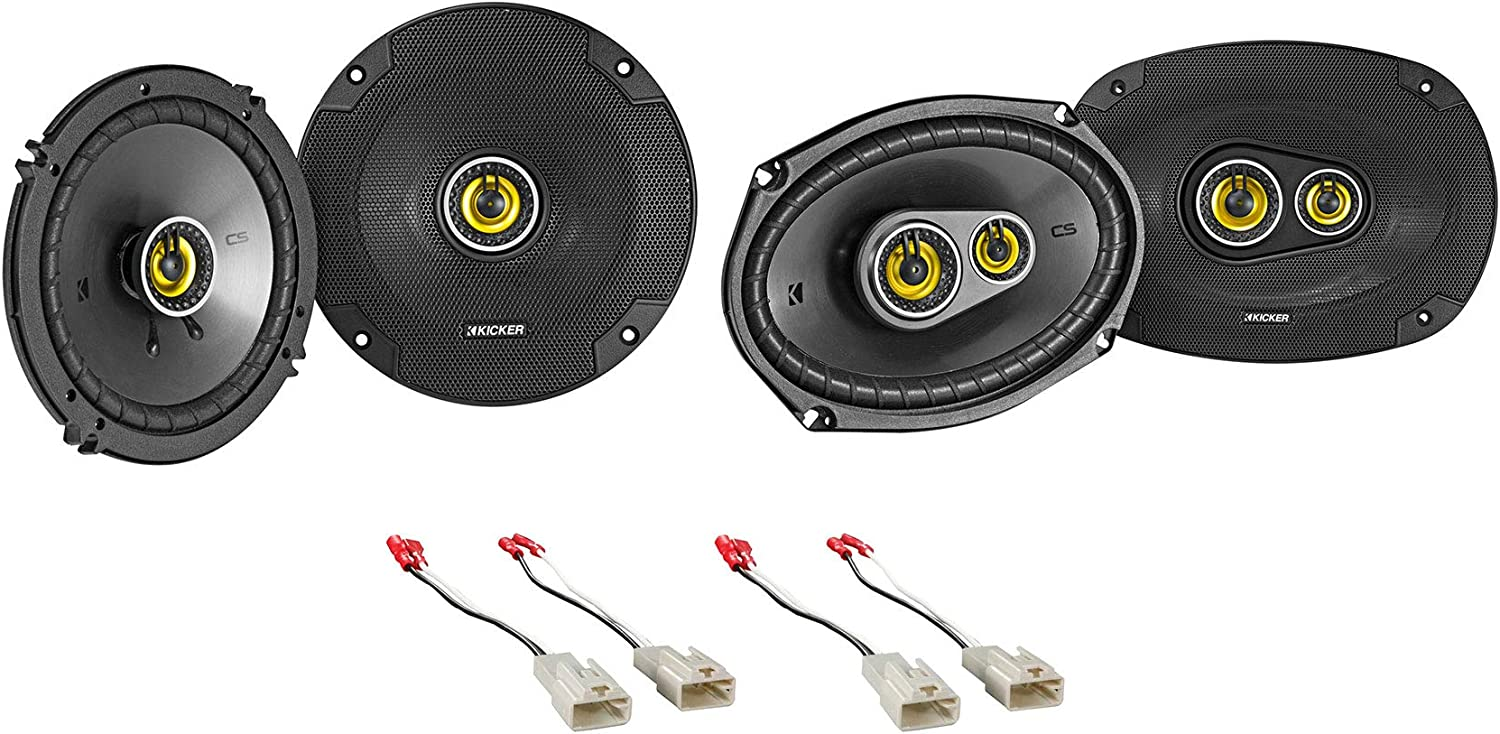 """Kenwood 6.5/"""" Front Factory Speaker Replacement Kit For 2003-08 Toyota Corolla"""