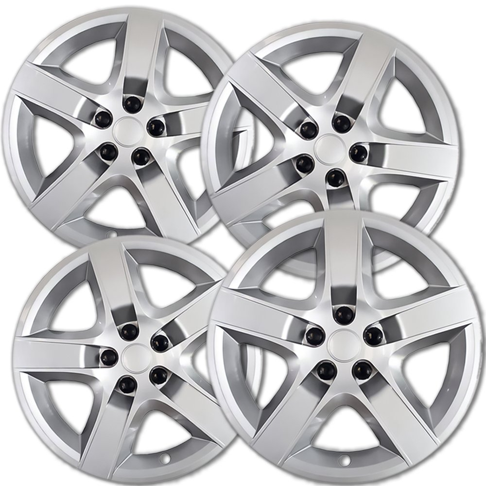 OxGord Hub-caps for 08-12 Chevrolet Malibu (Pack of 4) Wheel Covers 17 inch Snap On Silver