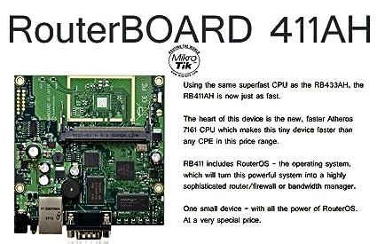 Amazon com : Mikrotik RB/411AH RouterBOARD RouterOS L4 : Motion