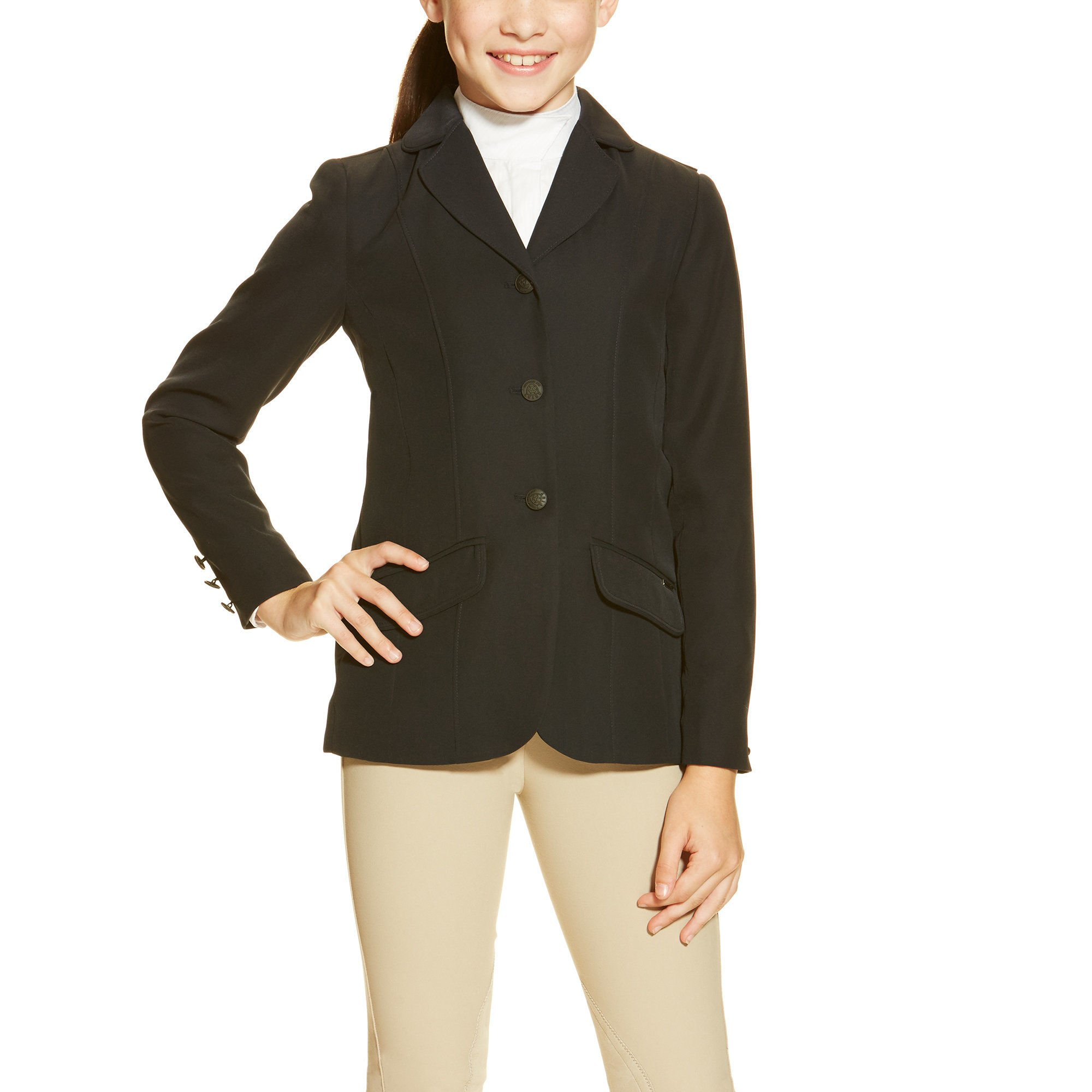 Ariat Girls Heritage Show Coat 8 Regular Navy