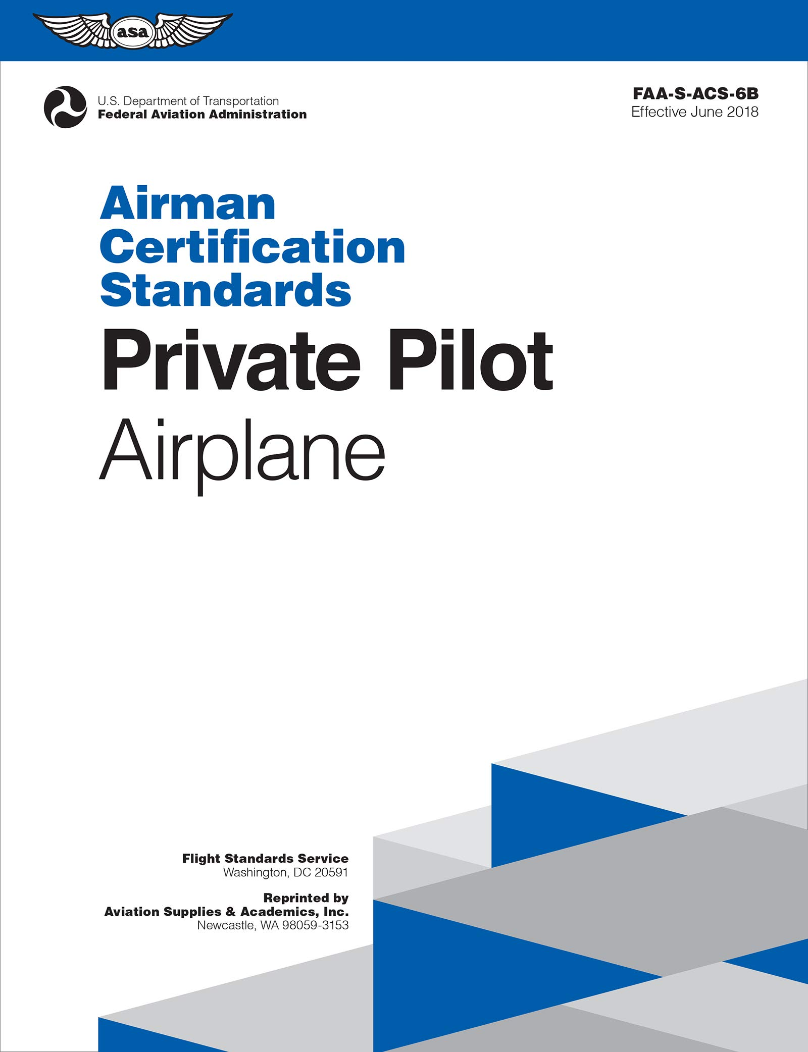 Private Pilot Airman Certification Standards - Airplane: FAA