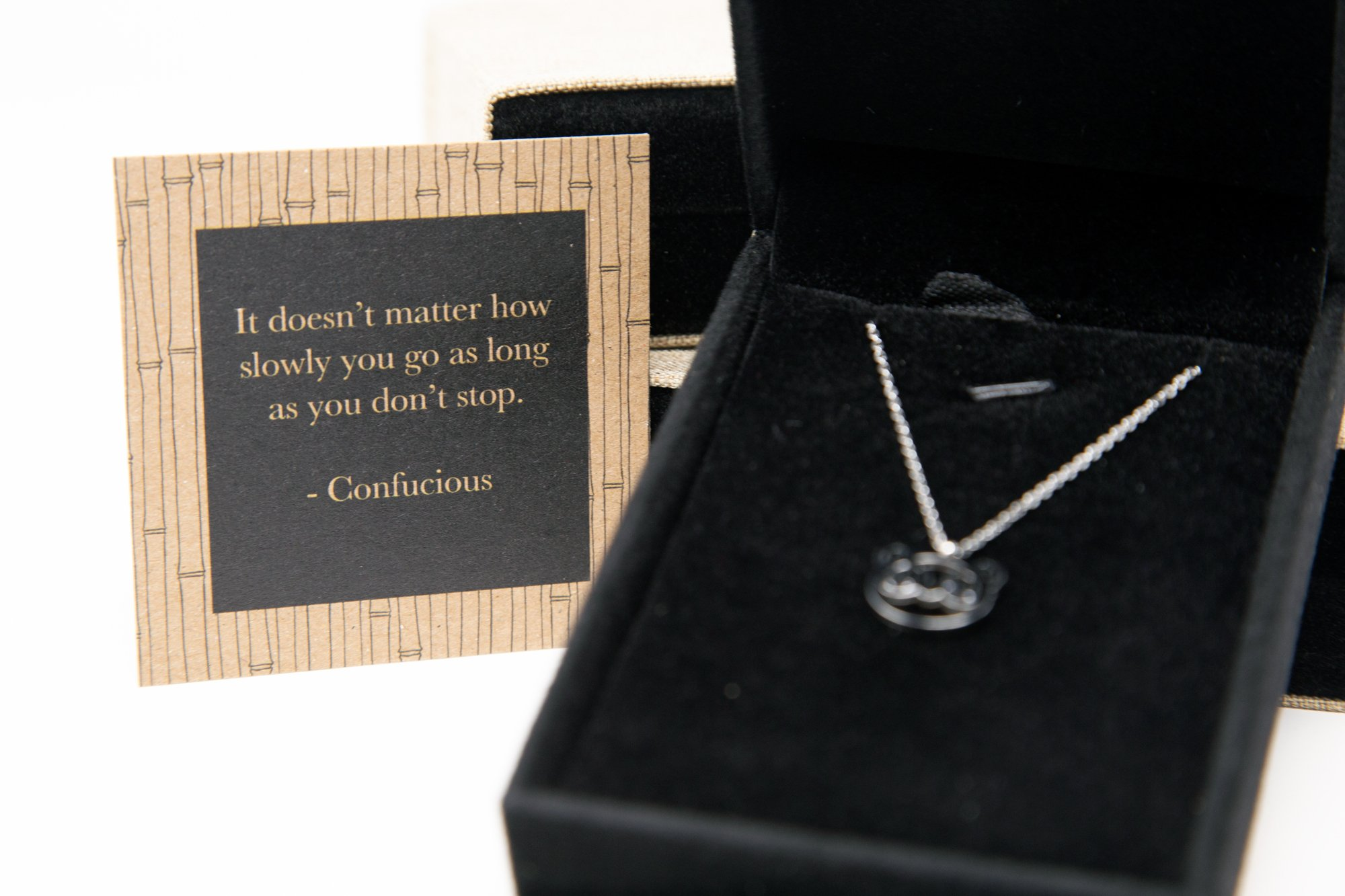 Inspirational Necklaces for Women - Panda Charm Pendant with Unique Gift Box and Inspiring Mantra Quote Card - Jewelry Stainless Steel for Women Necklace Charm - College Graduation Gifts for Her by Classic Inspirational Jewelry (Image #5)
