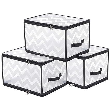 Amazoncom Songmics Urpb03g Large Boxes Plastic Storage Bags With