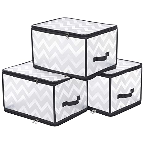 SONGMICS Paquete de 3 Bolsas Plásticas, Caja de ...