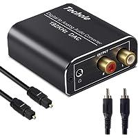 DAC Converter, Techole Aluminium 192 KHz Digitaal/Toslink naar Analoog RCA L/R Audio Converter Adapter met Optische…