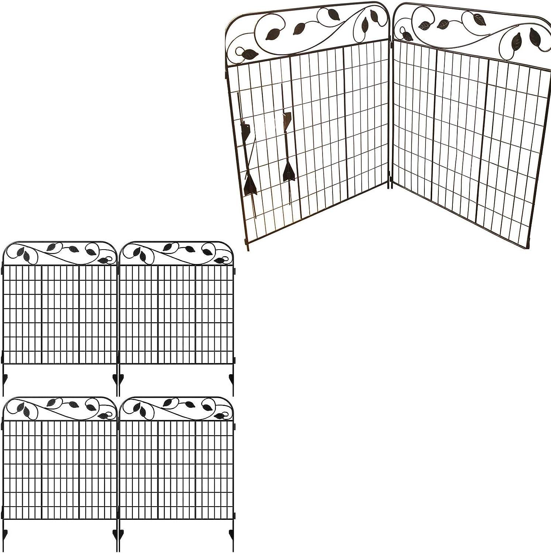 Amagabeli 44 in x 6 ft Garden Fence 2 Pack Bundle 44 in x 6 ft Garden Fence 4 Pack