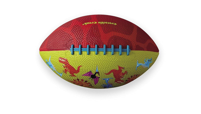 Crocodile Creek Dinosaurios patrón/Rojo Cepillado de fútbol ...