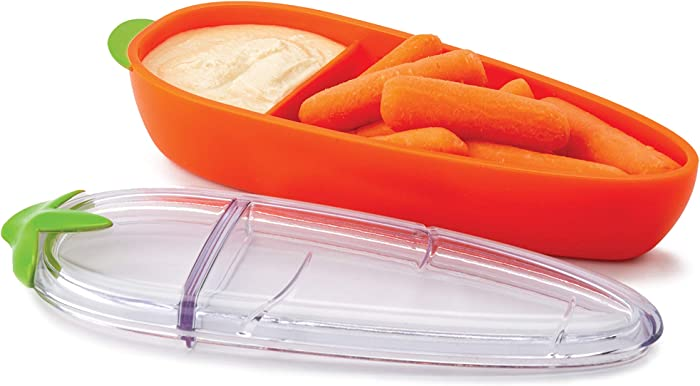 Joie Carrot, BPA Free, LFGB Approved, Sectioned Food Container for Snacks, One Size, Orange