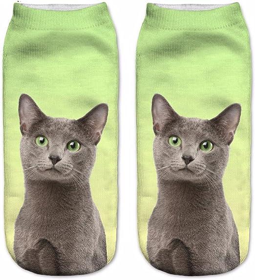 3D Printed Animal Women Casual Socks Cute Cat Unisex Low Cut Ankle Socks