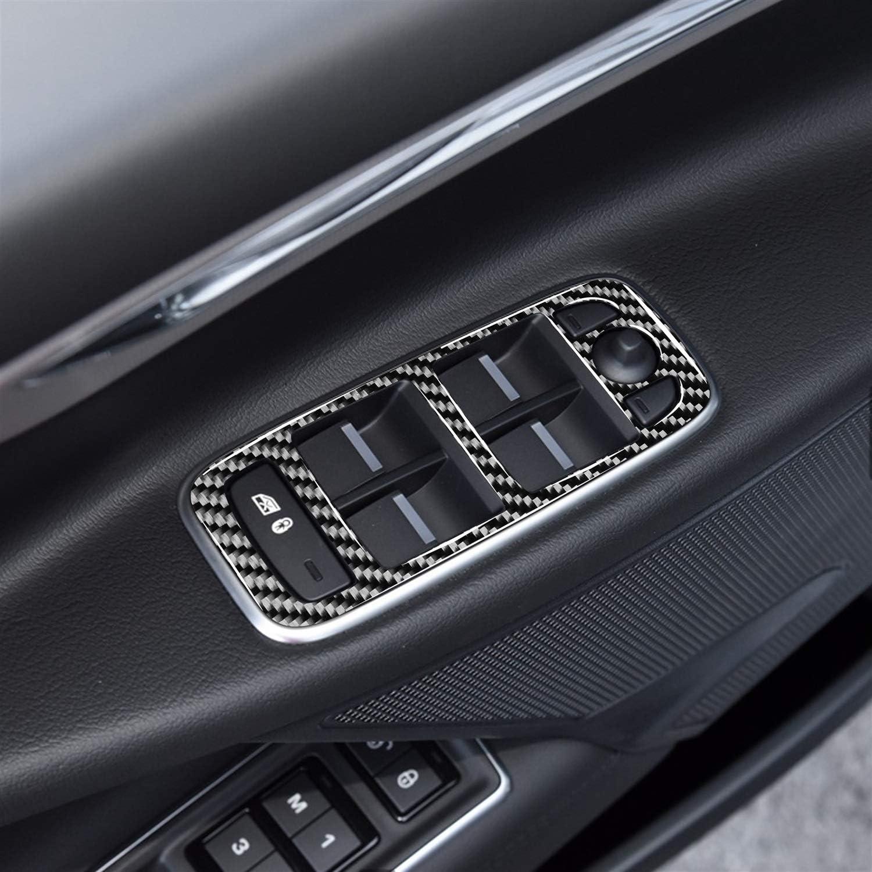 Car decoration frame Modified Interior Carbon Fiber Window Lifter Panel for Jaguar F-PACE XEL XFL XJ