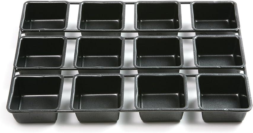 Norpro 3998 Nonstick 12-Cavity Linking Brownie Muffin Cupcake Cake Pan, Squares