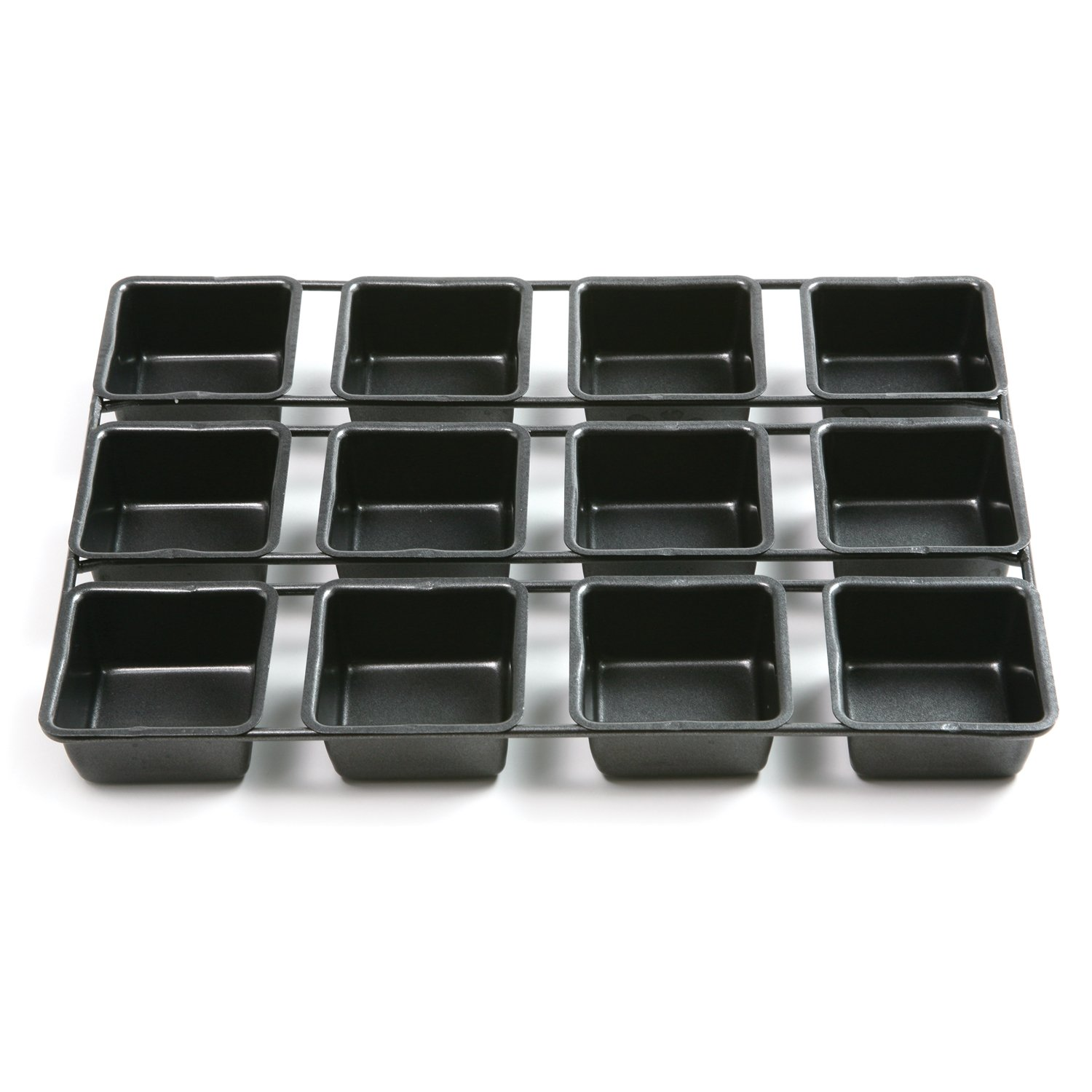 Norpro 3998 Nonstick 12-Cavity Linking Brownie Muffin Cupcake Cake Pan, Squares