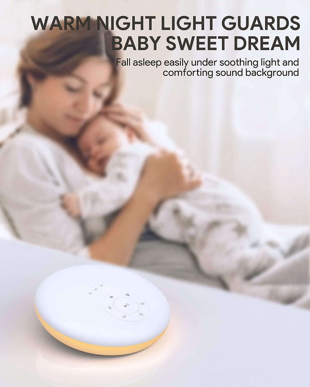 Sleep Machine for Home Nursery Office White Noise Machine Techvilla Sleep Sound Machine with Night Light for Baby Kid Adult Memory Function 24 Soothing Sound Noise Machine for Sleeping