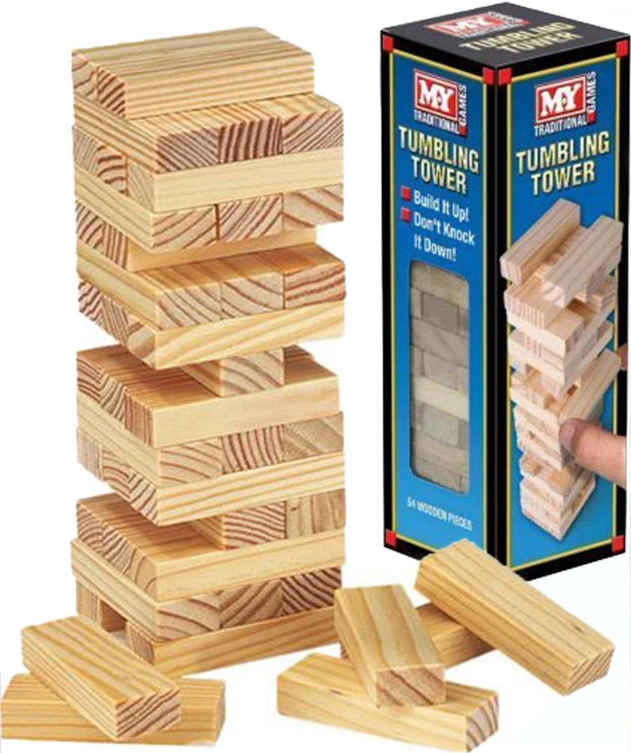 Wooden Tumbling Stacking Tower Kids Family Party Board Game by Holland Plastics Original Brand: Amazon.es: Juguetes y juegos