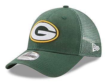 64164377f New Era Herren 9FORTY Trucker Washed Green Bay Packers NFL Cap, Dark Green