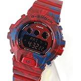 CASIO - Montre Pour Homme En Silicone Bicolore Rouge Et Bleu G-shock Casio - Rouge et bleu - 4,7 cm