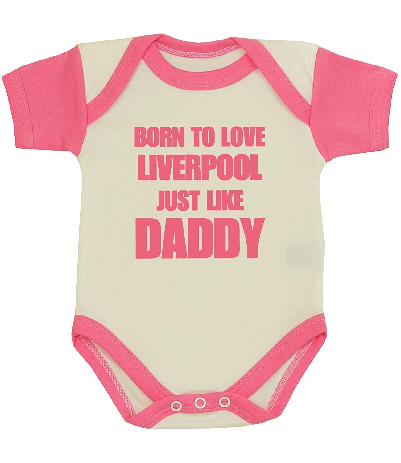 BabyPrem Baby Born to Love Liverpool Like Daddy Clothes Bodysuit NB-12mth