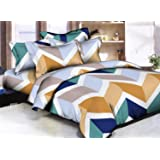 Bianca Microfiber Double Bedsheet with 2 Pillow Covers (Standard, Multi-coloured)